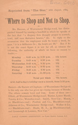 Advert for the Early Closing Association